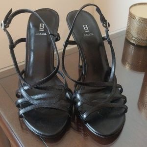 Black Strappy Heels From Bakers Size 7